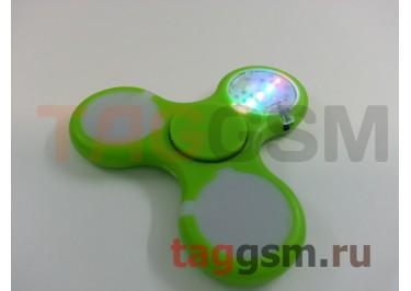 Спиннер трехлучевой (светящийся LED) (зеленый) тип1