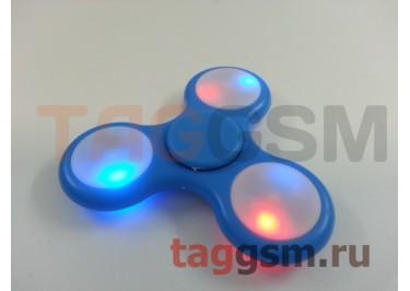 Спиннер трехлучевой (светящийся LED) (голубой) тип3