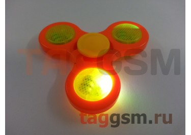 Спиннер трехлучевой (светящийся LED) (оранжевый) тип2