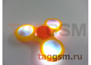 Спиннер трехлучевой (светящийся LED) (желтый) тип2