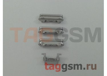 Кнопка (толкатель) для iPhone 6S (mute, on / off, volume) (серебро)