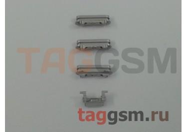Кнопка (толкатель) для iPhone 6S Plus (mute, on / off, volume) (серебро)