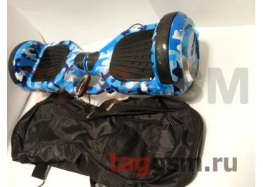 Гироскутер Smart Balance 6,5''. Tao Tao APP, пульт, BT-плеер, LED ходовые огни, АКБ samsung, сумка, цвет синий камуфляж