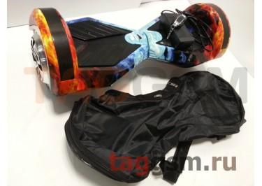 Гироскутер Smart Balance 8''. Tao Tao APP, пульт, BT-плеер, LED ходовые огни, АКБ samsung, сумка, цвет огонь и лед
