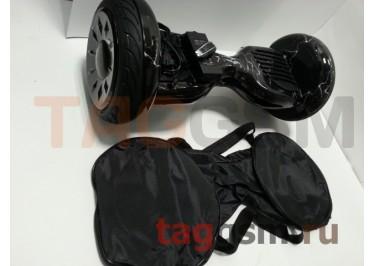 Гироскутер Smart Balance 10,5''. Tao Tao APP, пульт, BT-плеер, LED ходовые огни, АКБ samsung, сумка, цвет черная молния