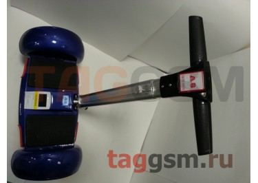 Мини сигвей c рулем Smart Balance A8 10''. пульт, BT-плеер, LED ходовые огни, АКБ samsung, цвет синий