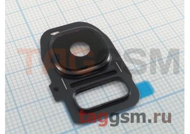 Стекло задней камеры для Samsung G935 Galaxy S7 Edge (черный)