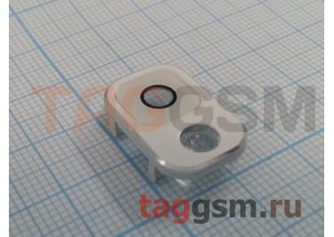 Стекло задней камеры + вспышки для Samsung N9000 Galaxy Note 3 (белый)