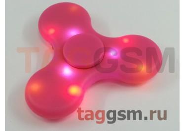 Спиннер трехлучевой (BT-плеер, светящийся LED) (розовый)
