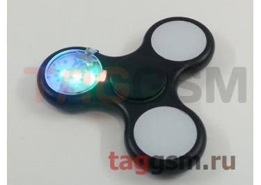 Спиннер трехлучевой (светящийся LED) (черный) тип1