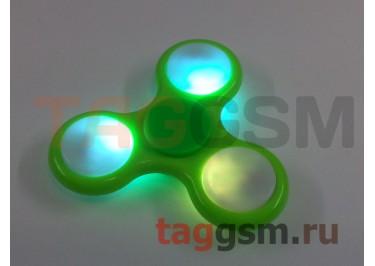 Спиннер трехлучевой (светящийся LED) (зеленый) тип2