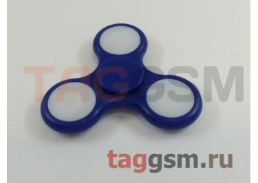 Спиннер трехлучевой (светящийся LED) (синий) тип3