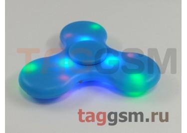 Спиннер трехлучевой (BT-плеер, светящийся LED) (голубой)