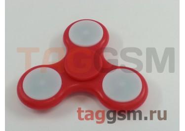 Спиннер трехлучевой (светящийся LED) (красный) тип3