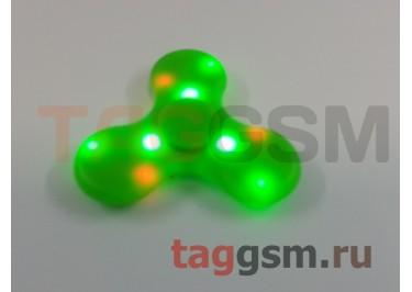 Спиннер трехлучевой (BT-плеер, светящийся LED) (зеленый)