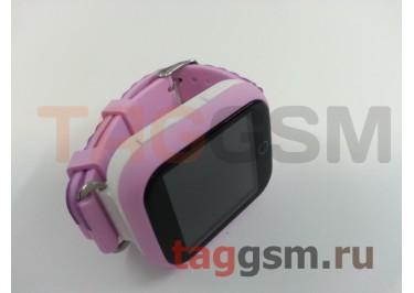 GPS - детские часы SmartBabyWatch Q90 (Розовые)