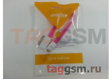 USB для iPhone 4 / iPhone 3 / iPad / iPad 2 / iPod плоский с магнитом (0,2м) розовый, Smartbuy
