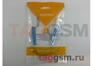 USB для iPhone 4 / iPhone 3 / iPad / iPad 2 / iPod плоский с магнитом (0,2м) голубой, Smartbuy