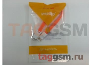 USB для iPhone 7 / iPhone 6 / iPhone 5 / iPad4 / iPad Mini / iPod Nano плоский с магнитом (20см) оранжевый, Smartbuy