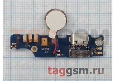 Шлейф для Meizu M2 Note + разъем зарядки + микрофон + вибро