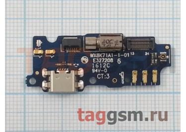 Шлейф для Meizu M2 mini + разъем зарядки + микрофон + вибро