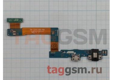 """Шлейф для Samsung SM-T550 / T555 + разъем зарядки + разъем гарнитуры + кнопка """"Home"""""""