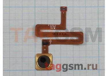 Шлейф для Xiaomi Mi Mix + сканер отпечатка пальца (золото)