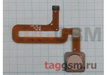 Шлейф для Xiaomi Mi4s + сканер отпечатка пальца (золото)