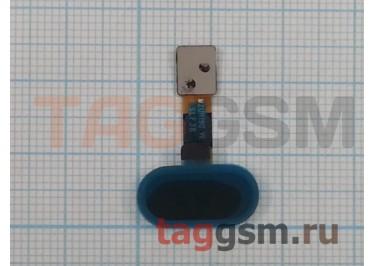 """Шлейф для Meizu M5 + кнопка """"Home"""" (черный)"""