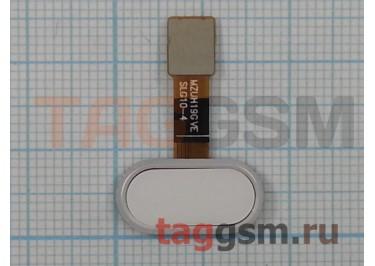 "Шлейф для Meizu M5 + кнопка ""Home"" (белый)"
