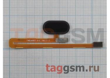 """Шлейф для Meizu MX6 + кнопка """"Home"""" (черный)"""