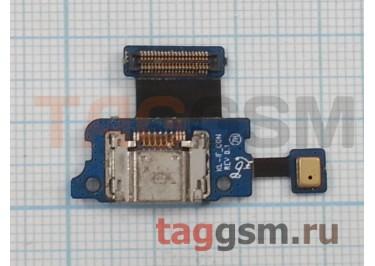 Шлейф для Samsung SM-T705 + разъем зарядки + микрофон, тип 2