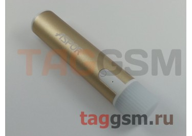 Портативное зарядное устройство (Power Bank) (Aspor A311) Емкость 2600mAh + USB фонарик (золото)