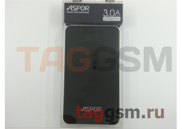 Портативное зарядное устройство (Power Bank) (Aspor A398, USB 3.0 / Type-C, 2USB выхода 2000mAh  /  2400mAh) Емкость 20000mAh (черный)