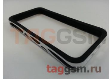 Бампер для iPhone 5 / 5S / SE (бело-черный)
