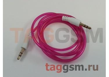 Аудио-кабель aux с силиконовым покрытием розовый