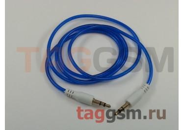 Аудио-кабель aux с силиконовым покрытием синий