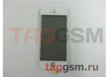 Стекло + OCA + поляризатор + рамка для iPhone 5S (белый), ориг