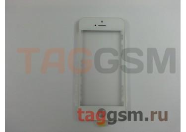 Стекло + OCA + рамка для iPhone 5S (белый), ориг