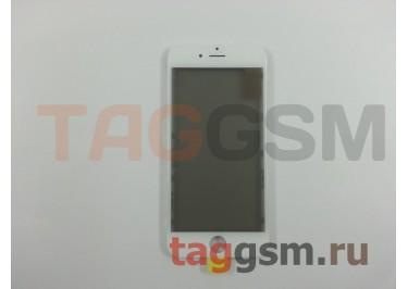 Стекло + OCA + поляризатор + рамка для iPhone 6 (белый), ориг