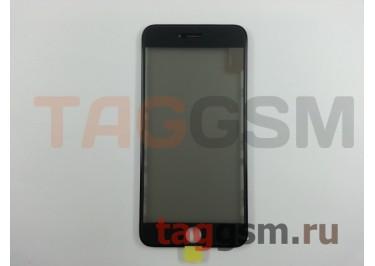 Стекло + OCA + поляризатор + рамка для iPhone 6 Plus (черный), ориг