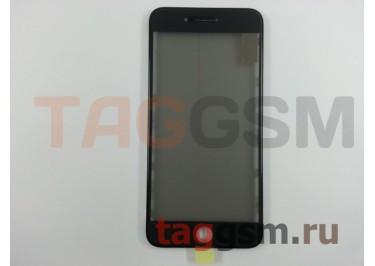 Стекло + OCA + поляризатор + рамка для iPhone 7 Plus (черный), ориг