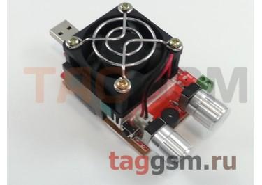 Электронная регулируемая нагрузка (USB, mini-USB, micro-USB, Type-C, Lightning, LCD-дисплей, 35W)