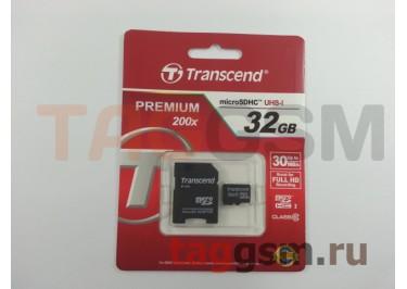 Micro SD 32Gb Transcend Class 10 с адаптером SD