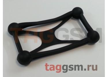 Бампер для телефона универсальный 3.5-5.5 дюймов (силикон, матовый, черный), техпак