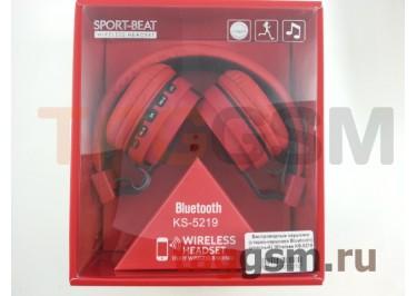 Беспроводные наушники (стерео-наушники Bluetooth) (красный)  Wireless KS-5219