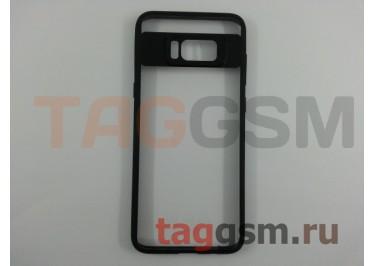 Бампер для Samsung G950 Galaxy S8 (силикон, матовый, черный) Usams Mant Series