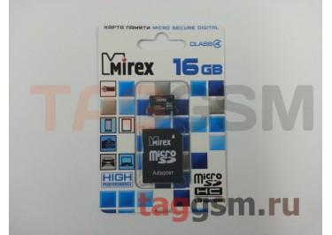 Micro SD 16Gb Mirex Class 4 с адаптером SD