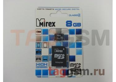 Micro SD 8Gb Mirex Class 4 с адаптером SD
