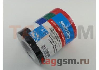 Изолента 0.15мм x 15мм (5 цветов) 10м Smartbuy